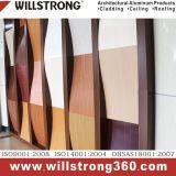 Acabamiento de madera del panel compuesto de aluminio para la pared de cortina