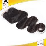 Synthétique latéral de vente chaud de fermeture de cheveu de pièce de 3 voies