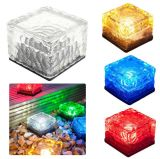 Indicatore luminoso sotterraneo alimentato solare del mattone solare del ghiaccio di vetro LED