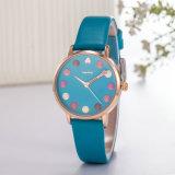 Regalo de cuero del ODM del servicio de encargo del reloj del reloj de manera para la mujer (Wy-124D)