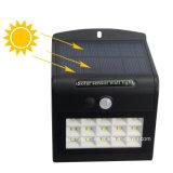 """""""copie claire"""" 4 facultative IP65 imperméabilisent la lampe actionnée solaire de jardin du détecteur de mouvement de PIR DEL"""