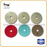 3 étape Diamond meulage Pad pour des pierres de granit Mable