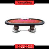 2017 новая таблица покера Техас подъема поколения ног 2 диска нестандартной конструкции овальная (YM-TB017)