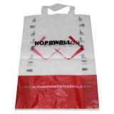 Подгоняно напечатано снесите пластичную хозяйственную сумку с мягкой ручкой петли