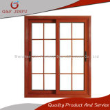 Schiebendes Fenster-doppeltes Glasaluminiumfenster mit Gitter-Entwurf