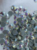El Ab colorea los granos de cristal del Rhinestone de Hotfix para los accesorios de la ropa