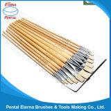 12PCS pega de madeira Artista Ajuste da escova (579)