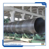 La norma ASTM A53 espiral negro Tubo de acero ASTM A252 tubo soldado Dsaw espiral de tubo de acero espiral