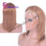 Brown capelli umani merletto parte anteriore parrucca linea sottile naturale brasiliana non trattata grezza castana dorata diritta naturale Quality Fashion Hair prima