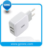 5V 2.4A chargeur mural USB 2 ports pour l'iPhone/Samsung