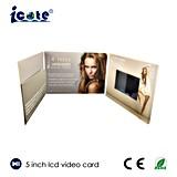 Folheto de anúncio video video do cartão de cumprimento de Digitas da tela do LCD/tela pequena do vídeo do LCD