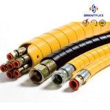 Couleur Noir et jaune flexible hydraulique du couvercle de protection