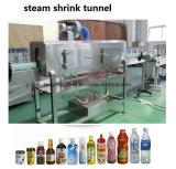 PVCペットラベルのための半自動洗浄力があるびんの袖の収縮のラベラーの蒸気の収縮のトンネル