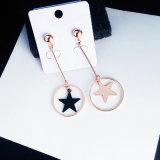 ギフトの方法女性の宝石類のステンレス鋼のイヤリングの星の宝石類