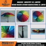 傘を広告する23inch虹