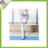 Aptidão longa Legging das mulheres das caneleiras da ioga da forma para a ioga