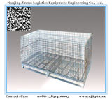 Contenedor de malla de alambre de hierro jaula de metal