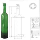 O GV certificou o frasco de vidro de vinho vermelho do verde Emerald Standard500ml