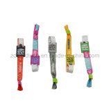 Wristband tejido RFID de la tela de 13.56MHz NFC para los acontecimientos deportivos del concierto del festival