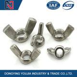 Écrou à ailettes en acier inoxydable avec les normes de la norme DIN ISO JIS GO ANSI