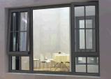 AluminiumhandCranded beeindruckendes Fenster mit grauer Farbe