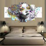 5 لوح [مودرن] أوسكار والذئب قاتل [هد] فنية طبق نوع خيش فنّ جدار يشكّل صورة زيتيّة لأنّ يعيش غرزة جدار صورة [ن-355]