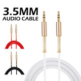 3.5mm Gold-Plated il cavo aus. del TPE dell'audio dell'automobile universale del suono puro
