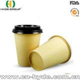 Вынос одноразовые бамбуковые волокна чашка для кофе с крышкой