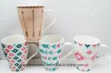 Projeto simples novo de China de osso da venda quente canecas de café cerâmicas de 13 onças