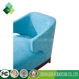最新の生きている家具の青い装飾されたソファーの単一のソファーの椅子