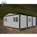 斜面の屋根が付いている20FTの容器の家