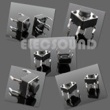 Tact Switch SMD con 4,5*4.5*3,8 mm mango redondeado de 4 pines