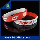 Wristband all'ingrosso dei braccialetti del silicone con colore Fiiled (TH-band011) di Debossed