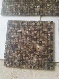 Dunkle Brown Marmormosaik-Fliesen Emperador-