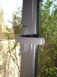Casement Ventana de aluminio con cristal templado