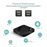 Neue androide intelligente Fernsehapparat-Kasten Tx3 STÜTZE mit Amlogic S905W 1GB Memory/8GB Speicher-gesetztem Spitzenkasten Kodi lud voll