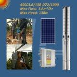 4inch 1kw BLDCのMPPTのコントローラが付いている太陽ステンレス鋼の浸水許容の水ポンプ