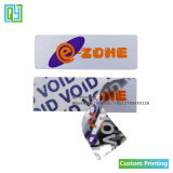De douane drukte de Nietige Open Zilveren Veiligheid van de Stickers van het Huisdier voor Mobiele Telefoon af