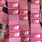 Custom-Made 2*5cm plegado central etiquetas tejidas