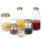 Großhandelsglasmaurer-trinkendes Glas mit Kappen-Nahrungsmittelglas