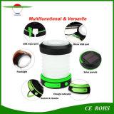 Foldable LED 3のモード小型携帯用屋外ランプUSBの再充電可能な太陽キャンプライト