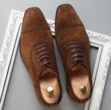Suede zapatos formales para los hombres Suede Oxford zapatos de cuero