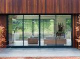 Elevatore di alluminio di vetratura doppia di serie 120 che fa scorrere i portelli di vetratura doppia del patio con 2 rotaie da Woodwin Guangdong