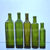 250ml/1000ml緑色のガラスオリーブ油のびん