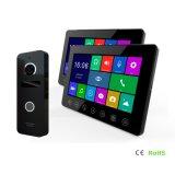 Memoria 7 pulgadas de la seguridad del hogar Video Portero Intercomunicador con DVR