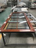 Revestimiento de aluminio doble acristalamiento de ventanas y puertas de madera