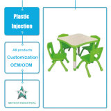 Tabela plástica personalizada da mobília da sala de visitas dos produtos e injeção ajustada da cadeira