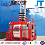 Grua de levantamento da construção do material popular da gaiola do dobro da carga de China Sc200/200 2t do baixo preço