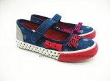 女の子(ET-OW160196K)のための加硫させた子供のダンスの靴