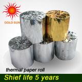 Rullo per l'atmosfera, posizione del documento termico del documento termico della pasta di cellulosa
